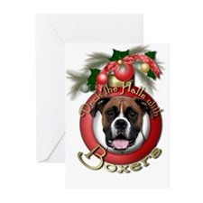 Christmas - Deck the Halls - Boxers Greeting Cards
