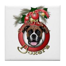 Christmas - Deck the Halls - Boxers Tile Coaster