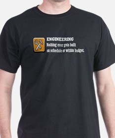 Schedule and Budget Black T-Shirt
