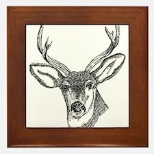 Unique Deer hunting Framed Tile