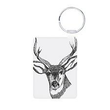 Unique Deer hunting Aluminum Photo Keychain