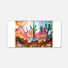 Colorful, Desert, art, Aluminum License Plate