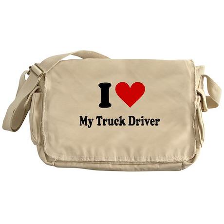 I Heart My Truck Driver Messenger Bag
