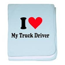 I Heart My Truck Driver baby blanket