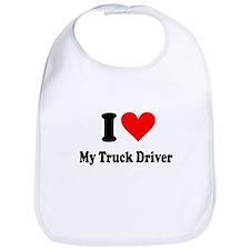 I Heart My Truck Driver Bib