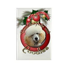 Christmas - Deck the Halls - Poodles Rectangle Mag