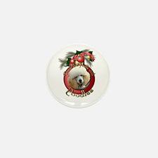 Christmas - Deck the Halls - Poodles Mini Button (