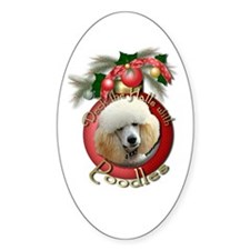 Christmas - Deck the Halls - Poodles Decal