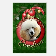 Christmas - Deck the Halls - Poodles Postcards (Pa