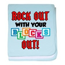 Rock Out With Blocks Out baby blanket