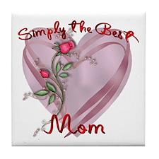 Cute Love mom Tile Coaster