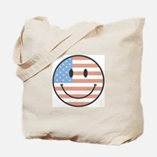 USA Happy Face Tote Bag