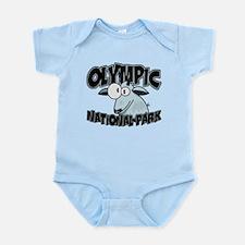 Olympic Natl Park Mountain Goat Infant Bodysuit