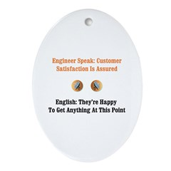 Customer Satisfaction Oval Ornament