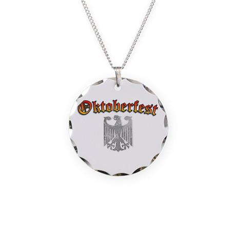 Oktoberfest German Deutsch Necklace Circle Charm