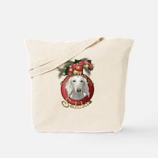 Christmas - Deck the Halls - Salukis Tote Bag