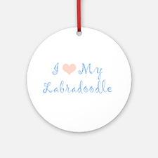 Labradoodle Ornament (Round)