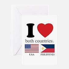 USA-PHILIPPINES Greeting Card