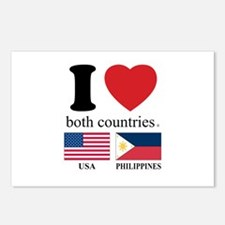 USA-PHILIPPINES Postcards (Package of 8)