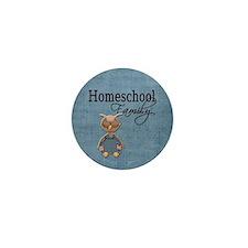 Wise Owl Homeschool Family Blue Background Mini Bu