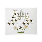 Whimsical Fireflies Throw Blanket