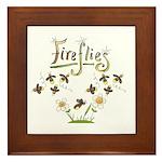 Whimsical Fireflies Framed Tile