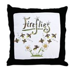 Whimsical Fireflies Throw Pillow