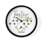 Whimsical Fireflies Wall Clock