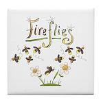 Whimsical Fireflies Tile Coaster