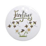 Whimsical Fireflies Ornament (Round)