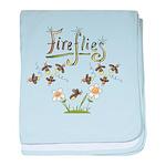 Whimsical Fireflies baby blanket