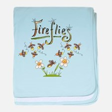 Whimsical Fireflies baby blanket