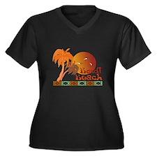 Bondi Beach Women's Plus Size V-Neck Dark T-Shirt
