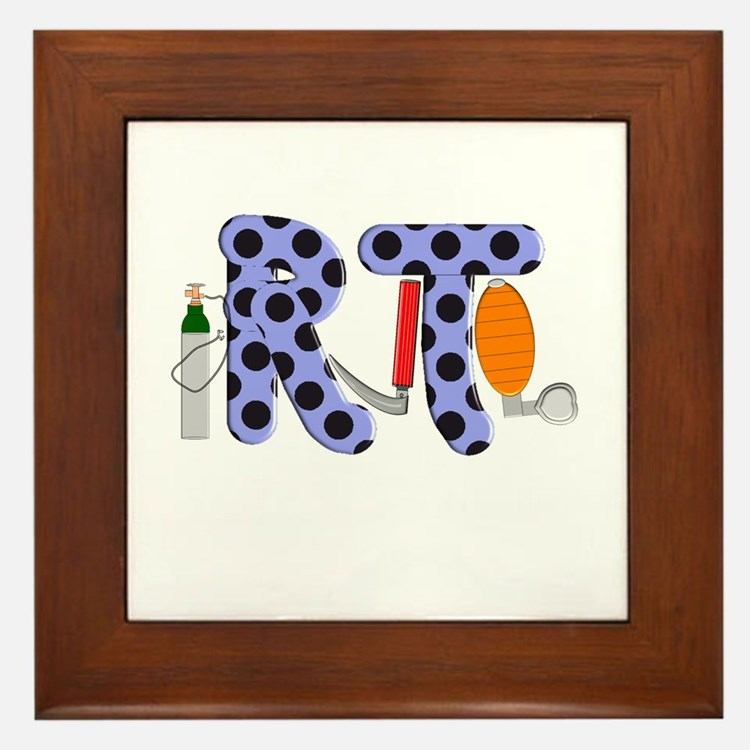 Respiratory Therapy 9 Framed Tile