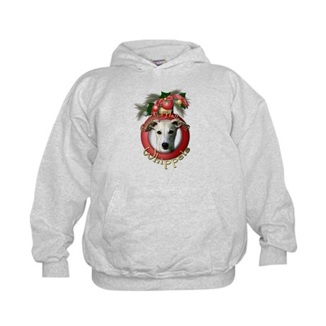 Christmas - Deck the Halls - Whippets Kids Hoodie