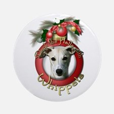 Christmas - Deck the Halls - Whippets Ornament (Ro