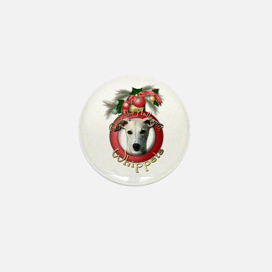 Christmas - Deck the Halls - Whippets Mini Button