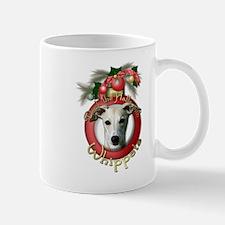 Christmas - Deck the Halls - Whippets Mug