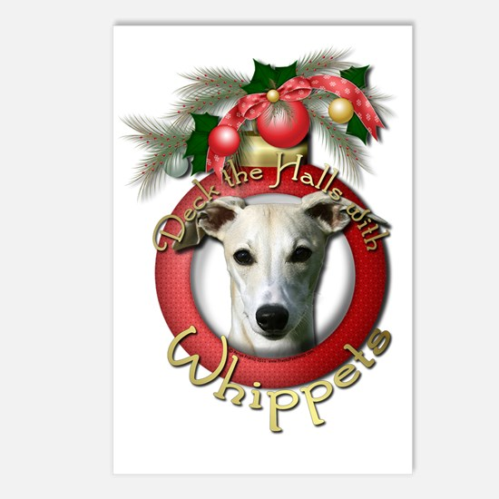Christmas - Deck the Halls - Whippets Postcards (P