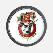 Christmas - Deck the Halls - Whippets Wall Clock
