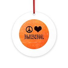 Homeschool Ornament (Round)