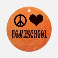 Homeschool Ornament (Round)