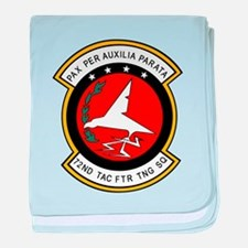 72nd Tactical Fighter Trainin baby blanket