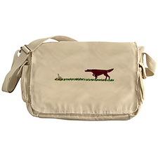 Irish Setter in the Field Messenger Bag