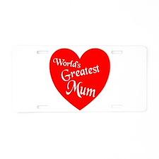 Cute Mum Aluminum License Plate