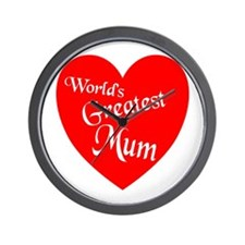 Cute World%27s greatest mom Wall Clock