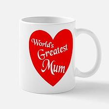 Worlds Greatest Mum Heart Mugs