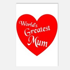 Cute Greatest mom Postcards (Package of 8)
