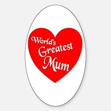 Cute World greatest mom Decal