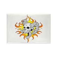 Ram Skull Rectangle Magnet